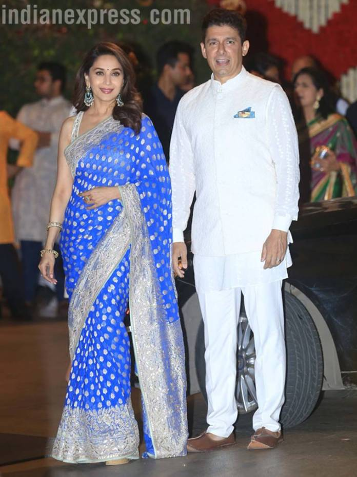 madhuri dixit   Mukesh Ambani's Ganesh Chaturthi bash: Kareena, Katrina, Madhuri, and others arrive in style madhuri dixit 759