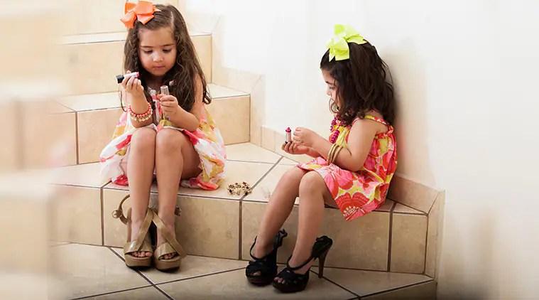 kids and makeup