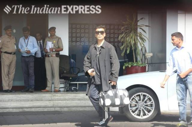 karan johar leaves for isha ambani wedding