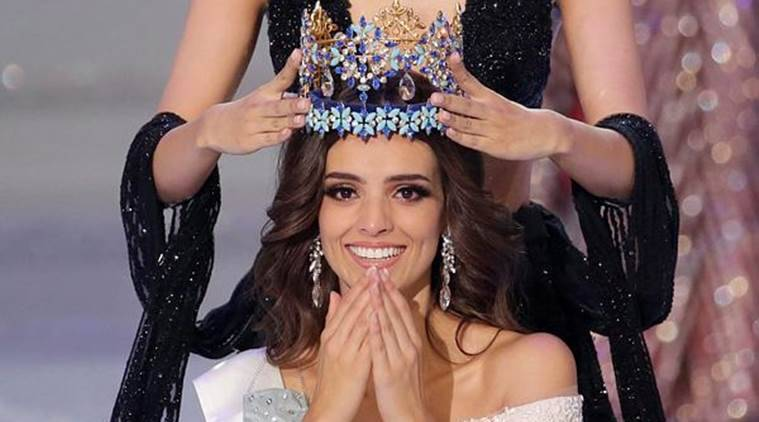 Miss Mexico Vanessa Ponce de Leon, 26, is crowned as she wins the Miss World 2018 title in Sanya, Hainan island, China on Saturday. (Reuters)
