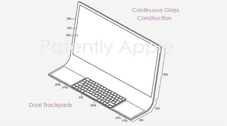 apple, apple iMac, curve glass iMac, apple all-in-one, apple imac curve glass, imac, apple patents