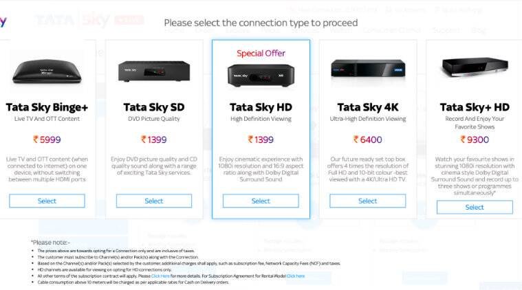 Tata Sky HD set top box, Tata Sky HD, Tata Sky, DTH
