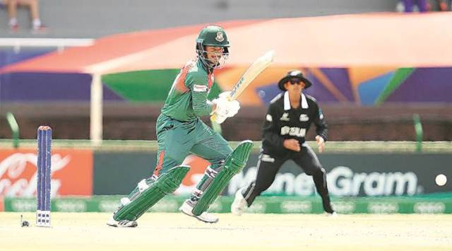 Mahmudul Hasan Joy, Bangaldesh vs New Zealand, Ban vs NZ U-19 cricket world cup, U-19 cricket world cup, Cricket news, sports news, Indian Express