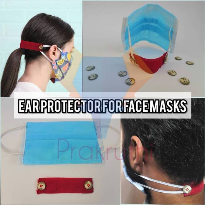 ear protectors, indianexpress.com, Prakruthi Products, Ratheesh S, covid-19, lockdown, frontline workers, masks, mask pain, ear pain, ear fatigue, how to war masks, how to make ear guard, indianexpress, coronavirus, pandemic,