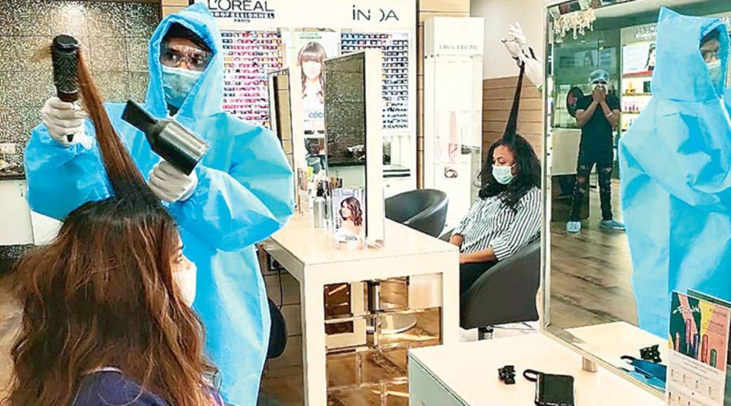 PPE kits to cashless payments as salons in Gurgaon reopen doors ...