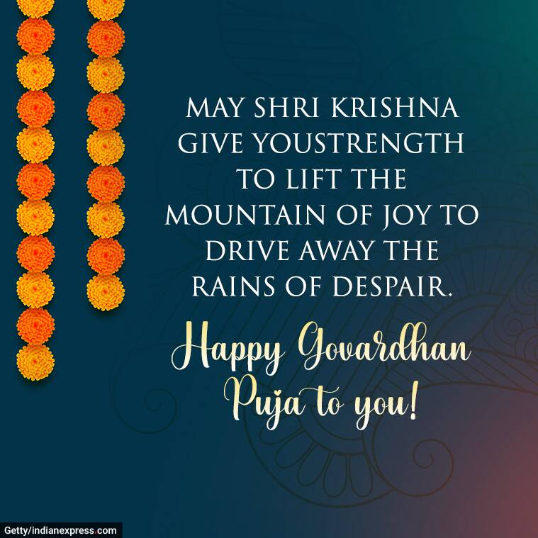 Happy Govardhan Puja 3 Wishes Images, Status, Quotes, Messages, Wallpapers, GIF Pics, Photos, Greetings