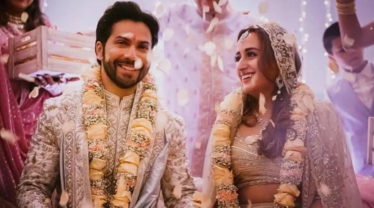 Varun-Natasha wedding: The newlyweds make for a stunning couple!    Lifestyle News,The Indian Express