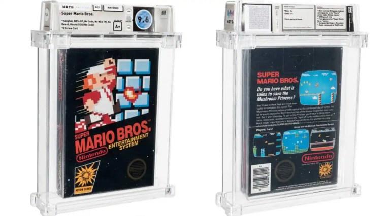 This closed copy of Nintendo's Super Mario Bros. is on sale