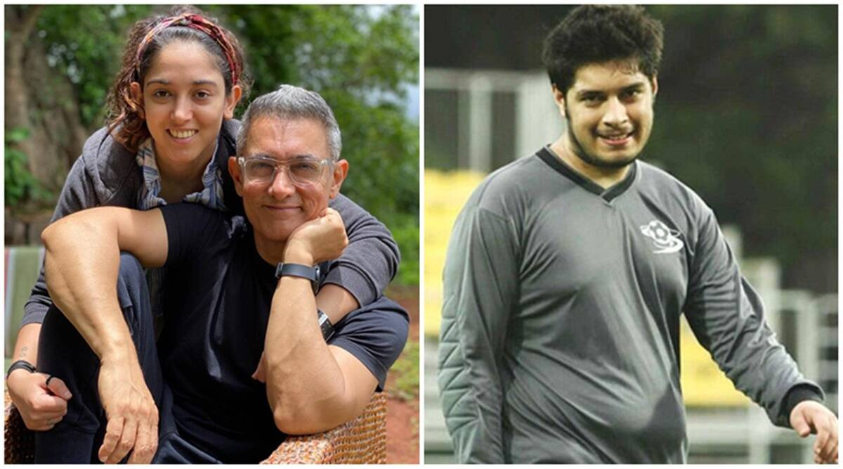 Aamir Khan, son Junaid and daughter Ira pose for for photographers after a  hearty meal, watch video | Entertainment News,The Indian Express