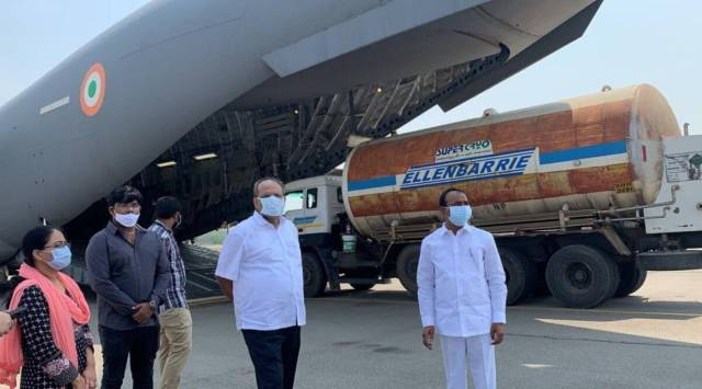 Telangana: IAF planes airlift oxygen tanks from Hyderabad to Odisha |  Cities News,The Indian Express