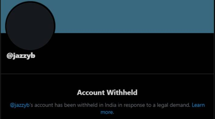 twitter blocks punjabi singer jazzyb, three other accounts on government's request   technology news,the indian express