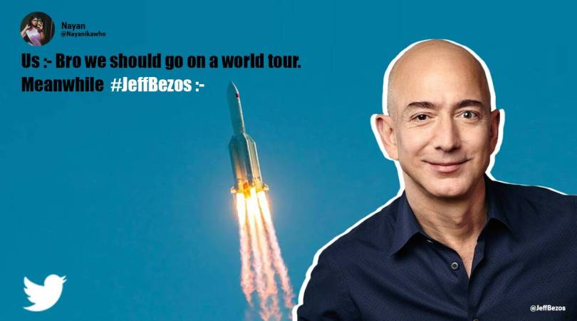 'Godspeed Bezos': Netizens react after Jeff Bezos announces space travel with brother