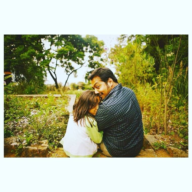 Anurag Kashyap with daughter
