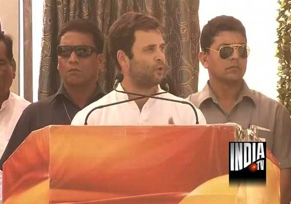 Rajasthan polls: Pro-Modi slogans at Rahul rally