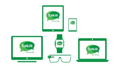 image showing talkitt for different devices - computer, tablet, smartphone, wearable devices like google glass and smart watch.