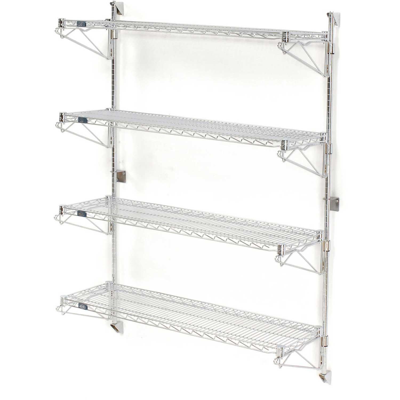 Details About Nexel Wall Mount Wire 4 Shelf Starter Unit 60 W X 18 D X 63 H