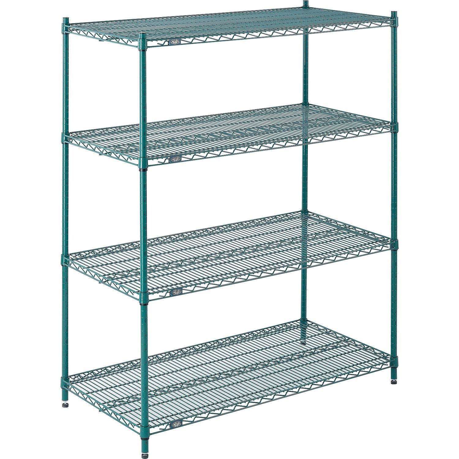 Details About Nexel Wire Shelving Green Epoxy 60 W X 24 D X 86 H Lot Of 1