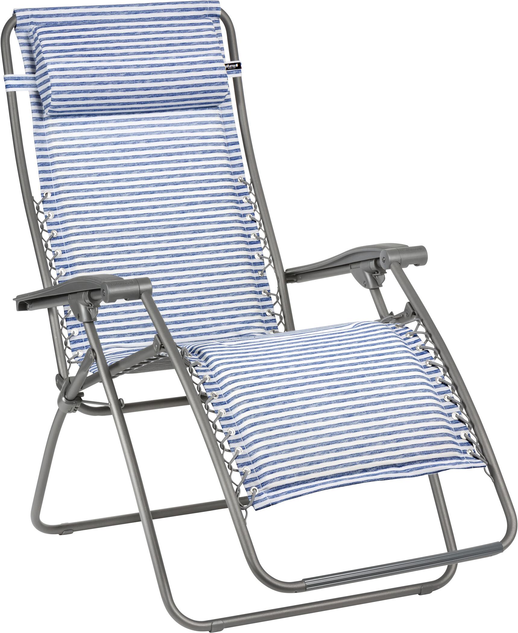 lafuma mobilier rsx chaise longue polycoton titane marine
