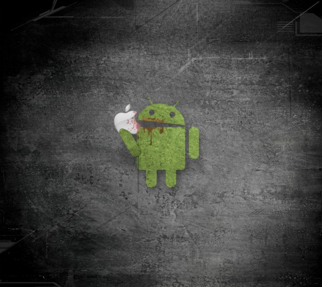 android eating apple1 e1286828194321 Analyst says Android tablets will beat out iPad