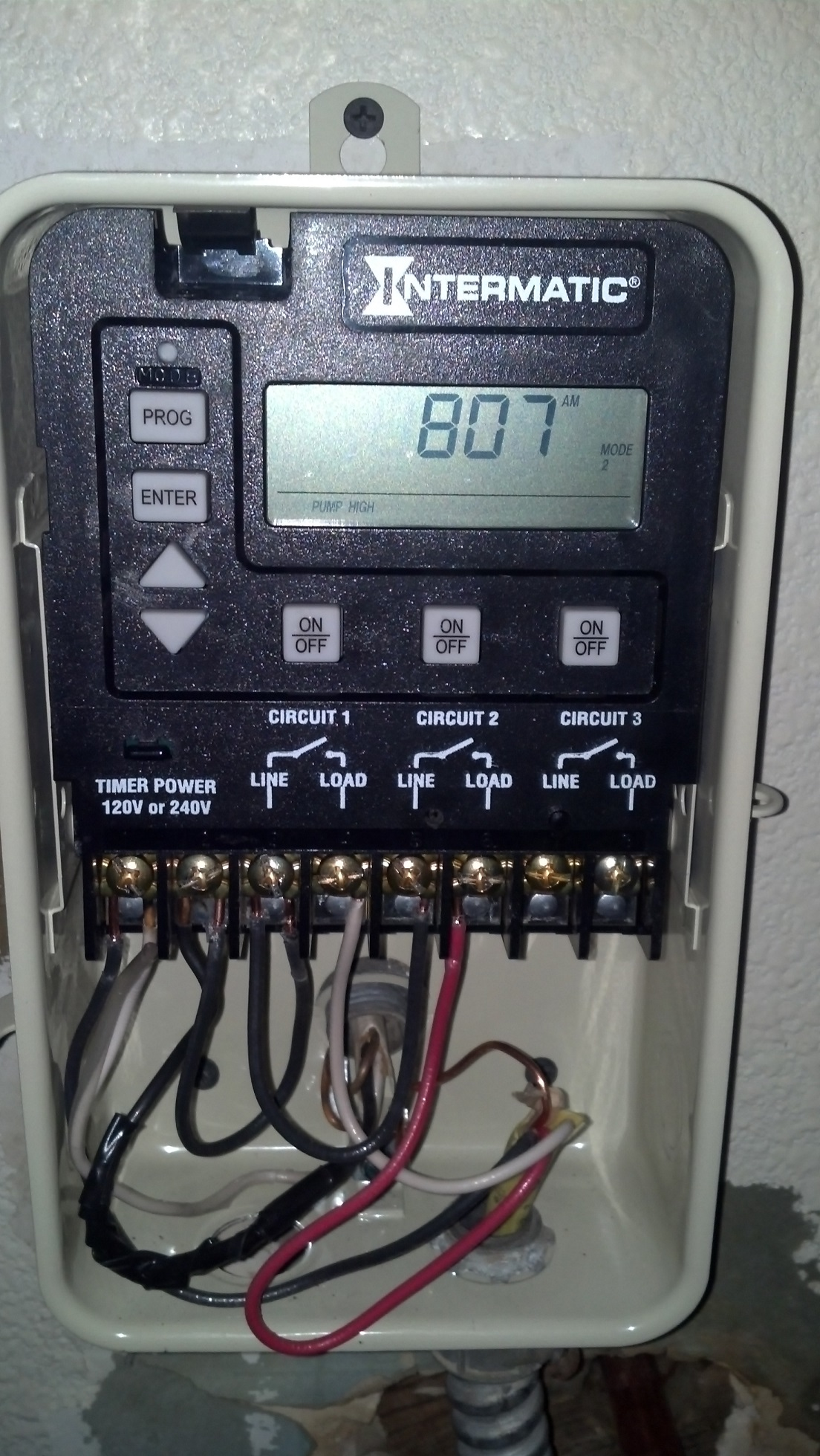 How To Wire a PE153 Digital Timer to a 2Speed 230V Motor  INYOPools