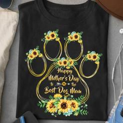 Sunflower Paw Best Dog Mom Mother's Day shirt