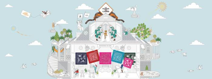 Hermès et la Maison des Carrés, le site e-commerce dédié aux carrés