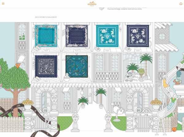 Le merchandising digital vu par Hermès