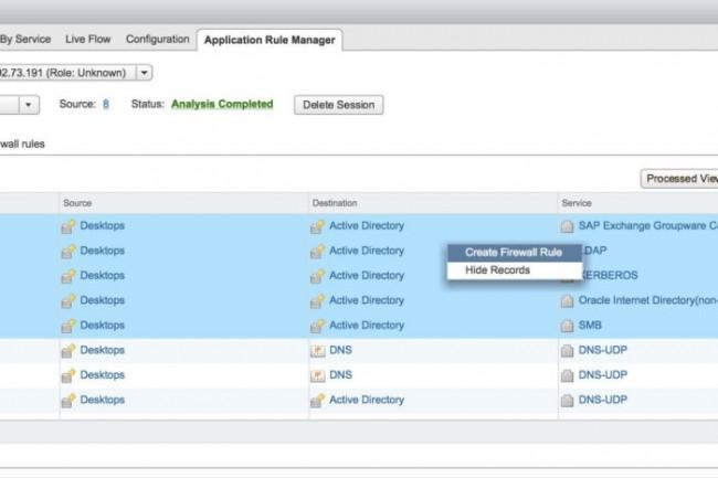 L'algorithme du moteur de règles de NSX pour vSphere 6.3 propose des recommandations en sécurité après avoir observé le trafic sur le réseau. (crédit : D.R.)