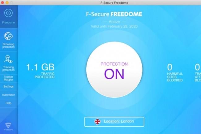 Le VPN Freedome de F-Secure propose un niveau de sécurité convaincant bien qu'il ne soit pas le plus rapide du marché. (crédit : F-Secure)