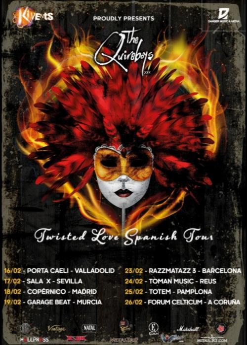 Cartel de Concierto de The Quireboys en Madrid