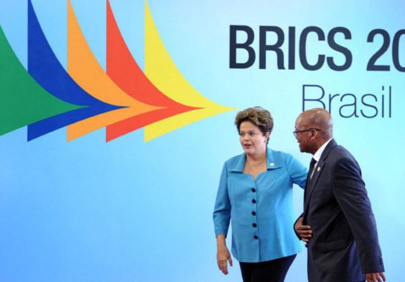 Dilma Rousseff and Jacob Zuma at the 2014 BRICS summit in Brazil. GovernmentZA / Flickr