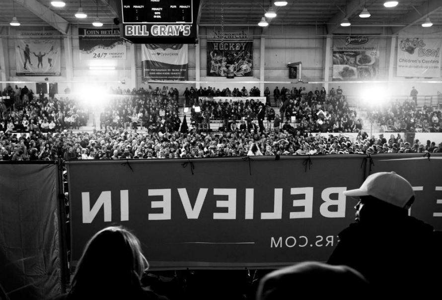 A Bernie Sanders rally in April 2016. Patrick Damiano / Flickr