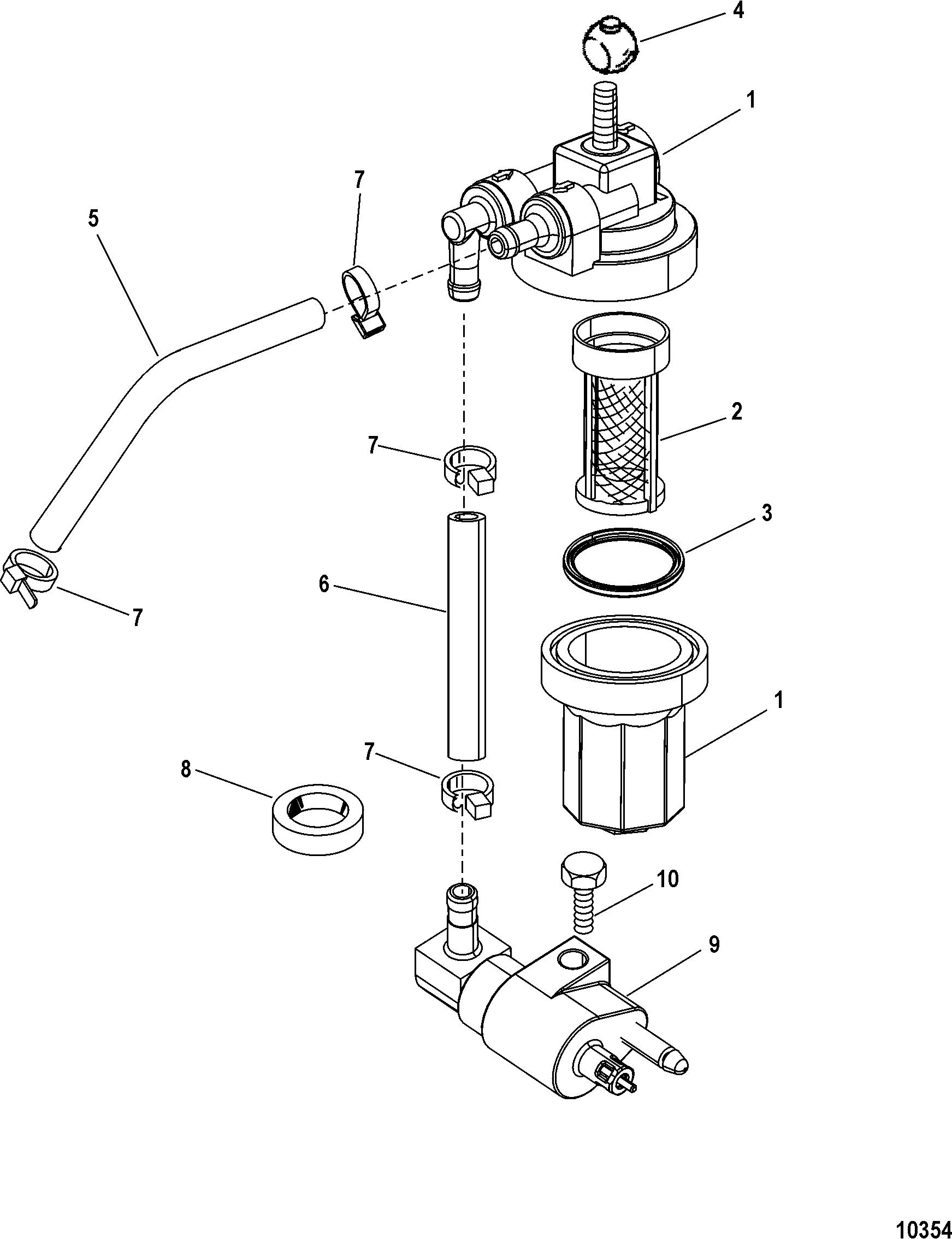 Mercury 4 Stroke Fuel Filter