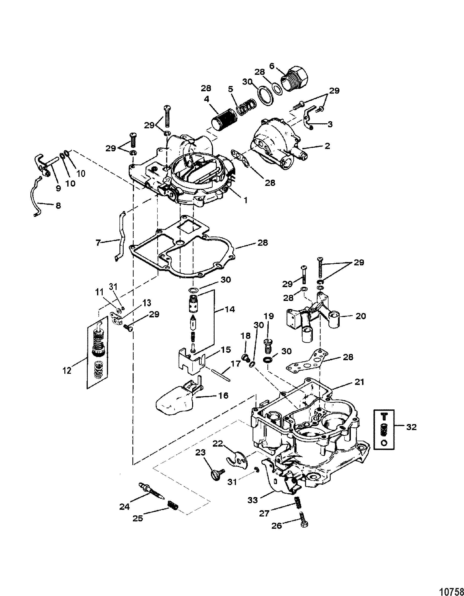 Carburetor Mercarb For Mercruiser 4 3l Carb Alpha Bravo
