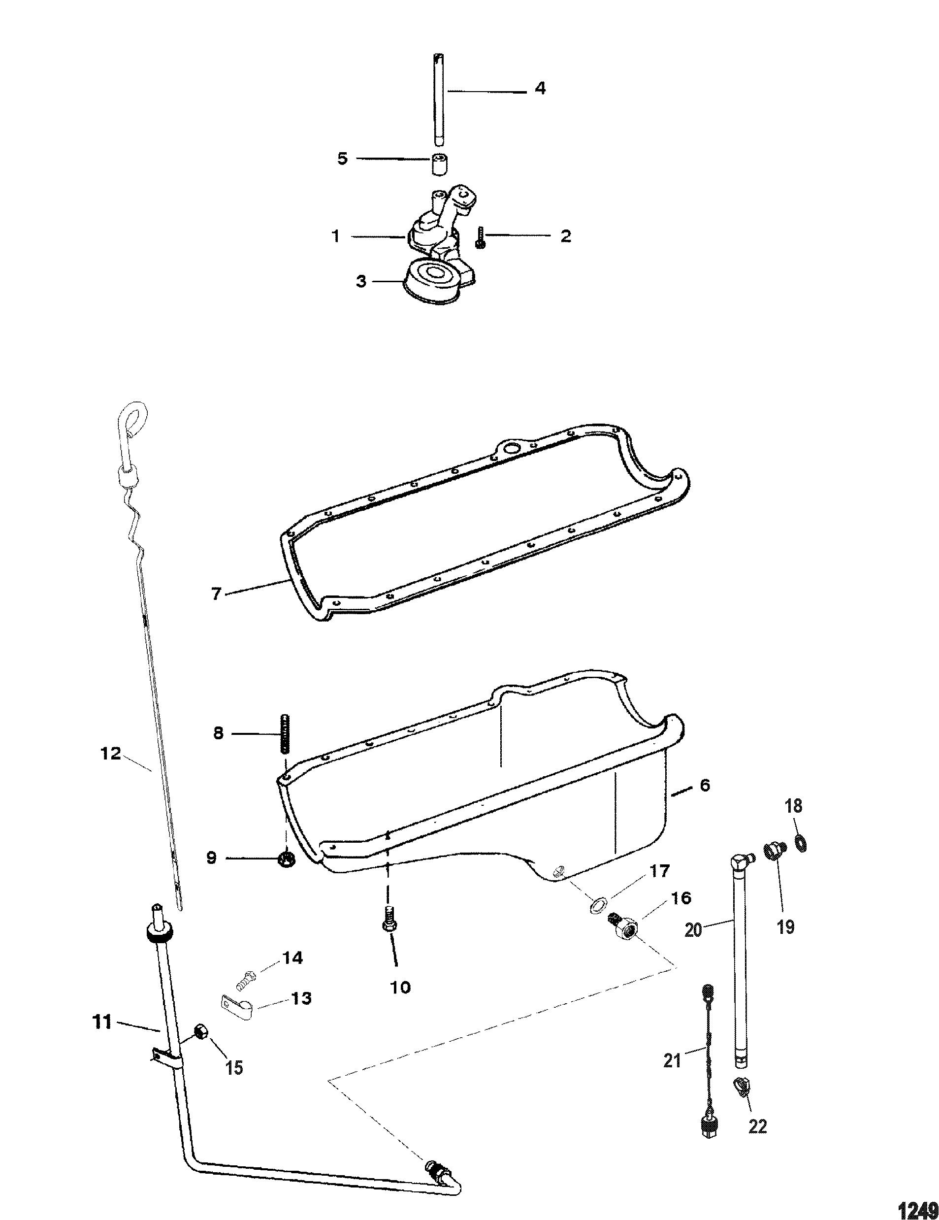 Oil Pan And Oil Pump For Mercruiser 4 3l Efi Alpha Bravo 262 C I D Gen