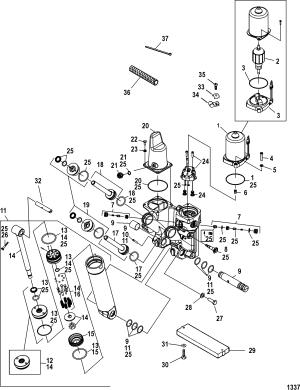 Power Trim Components FOR MERCURY 250 PRO XS 30L