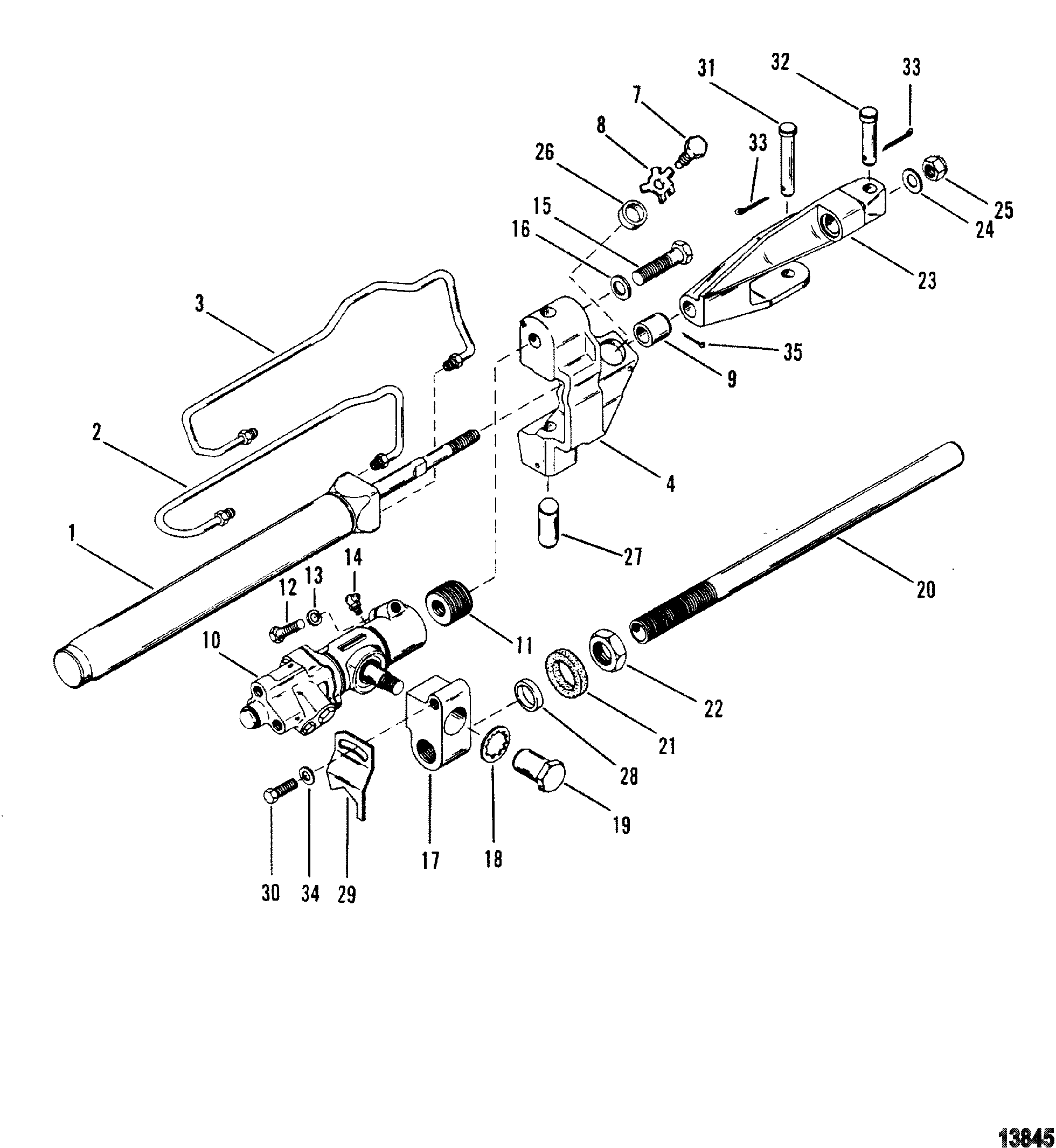 Power Steering Components For Mercruiser Alpha One Gen Ii