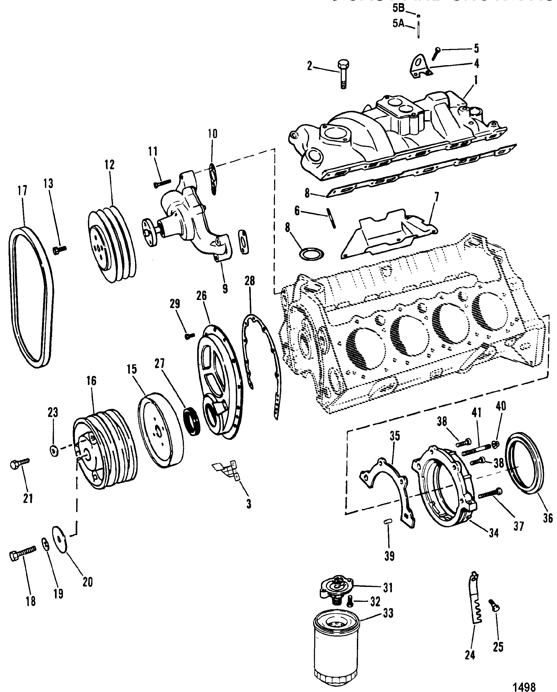 Intake Manifold And Front Cover Design Ii For Mercruiser
