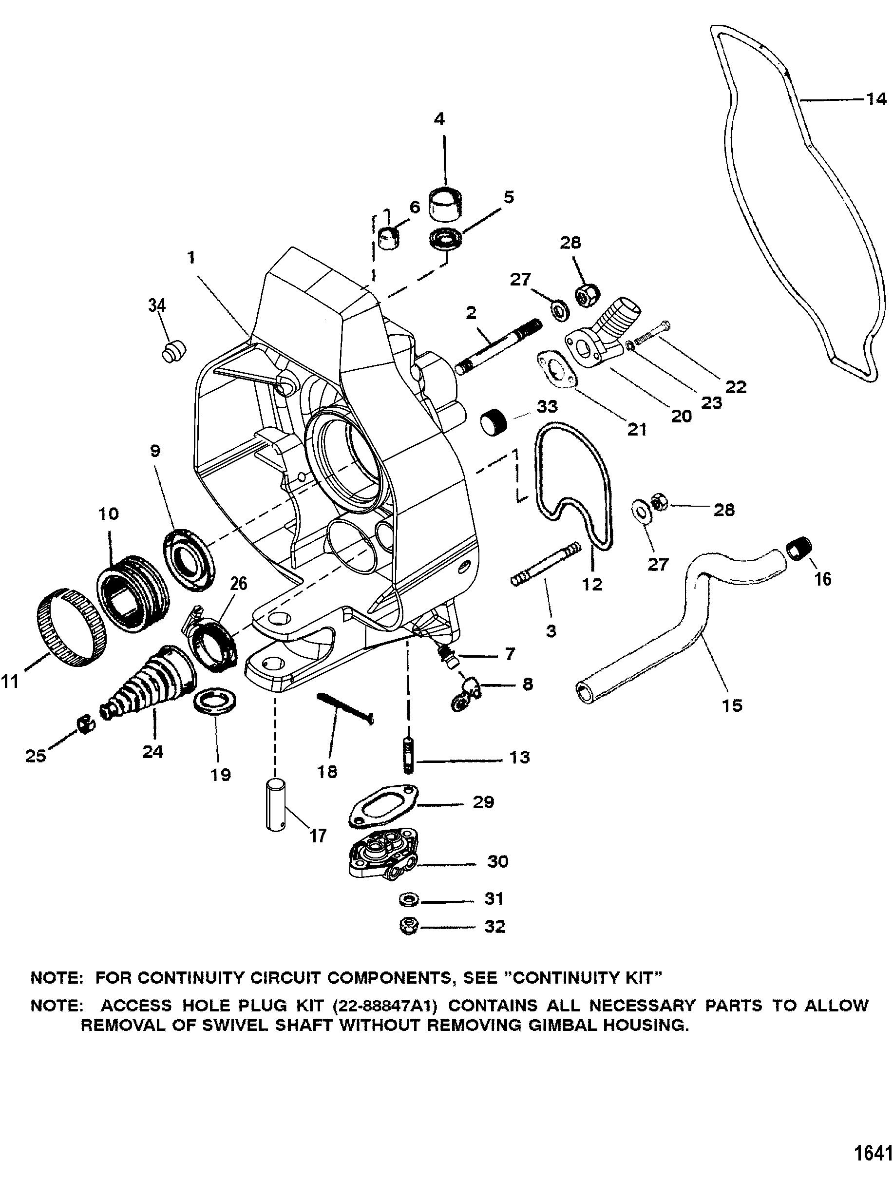 Gimbal Housing For Mercruiser Race Sterndrive Bravo I Xr Xz Sterndrive And Transom Assembly