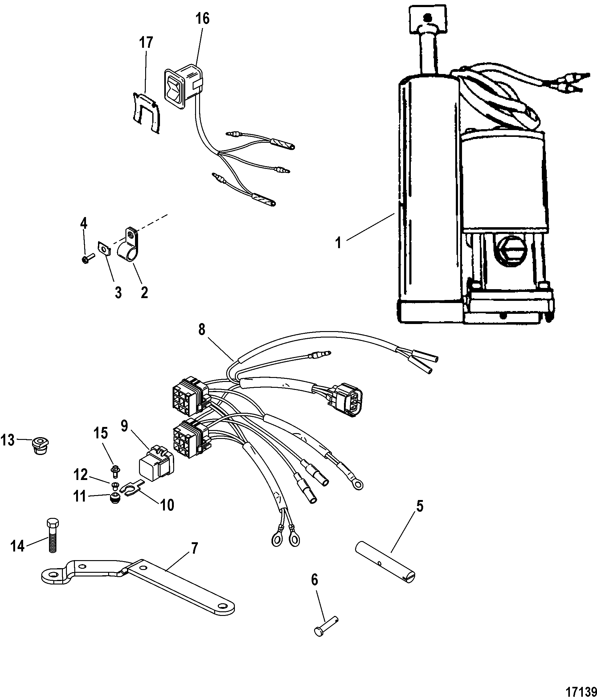 Power Trim Kit A8 A6 For Trim Tilt Lift