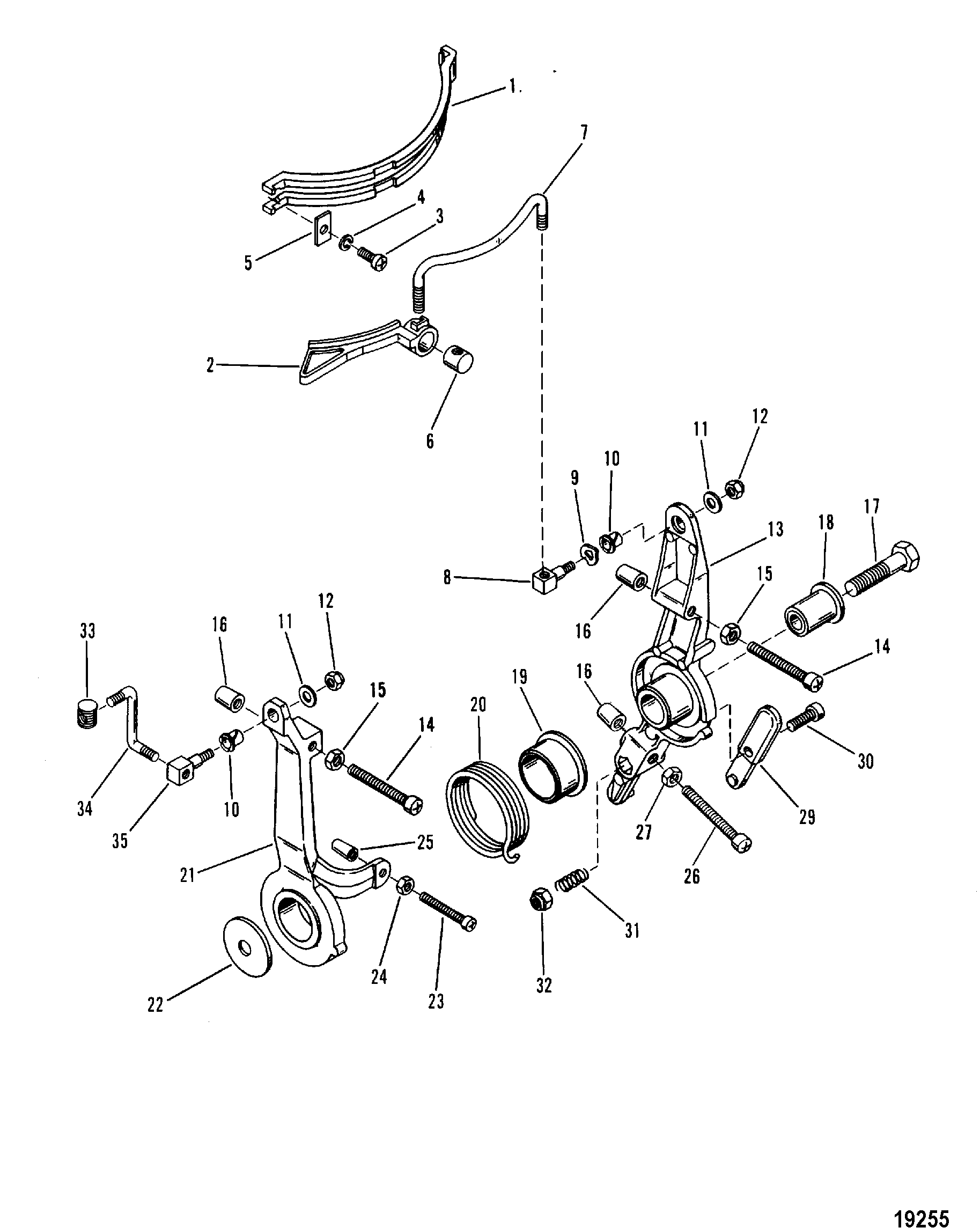 Throttle Linkage For Mariner Mercury 50 60 H P 3 Cylinder