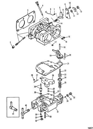 Carburetor FOR MARINER  MERCURY 135  150  175 200 25L