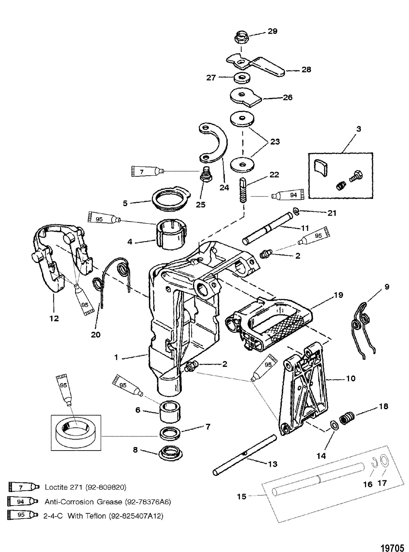 Swivel Bracket For Mariner Mercury 6 8 Sailmate 9 9