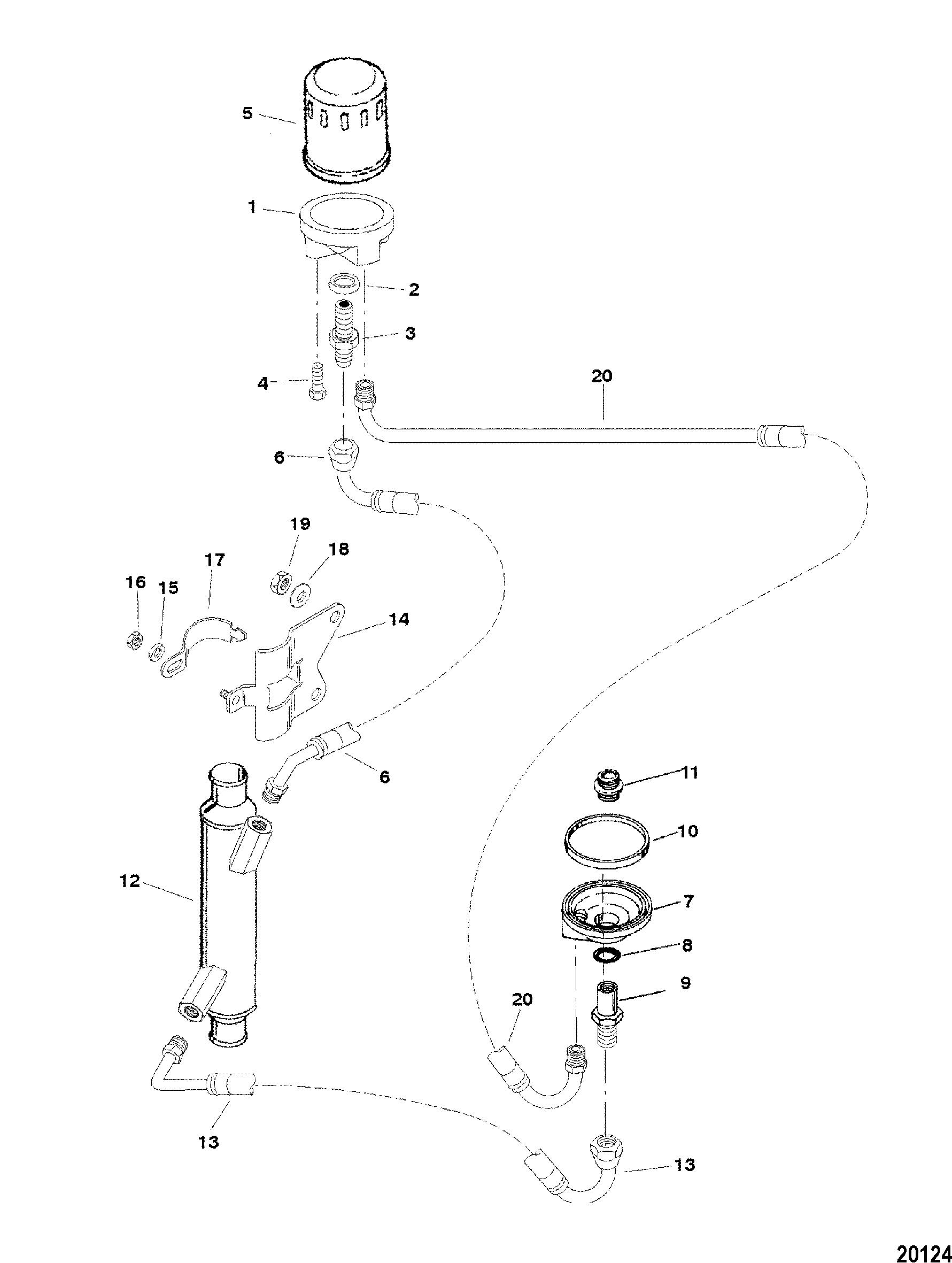 Oil Filter And Adaptor For Mercruiser 7 4l Mpi Bravo L29 Gen Vi