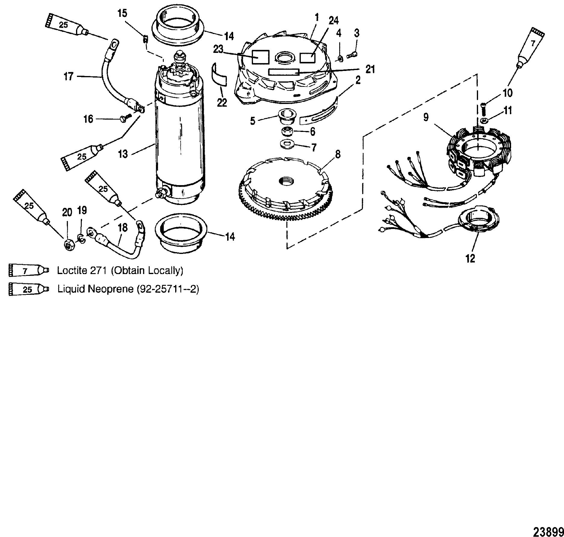 Flywheel Starter Motor For Mariner Mercury 135 150 175