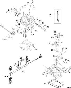 Carburetor Kit TKS FOR MERCRUISER 50L  57L STERNDRIVE