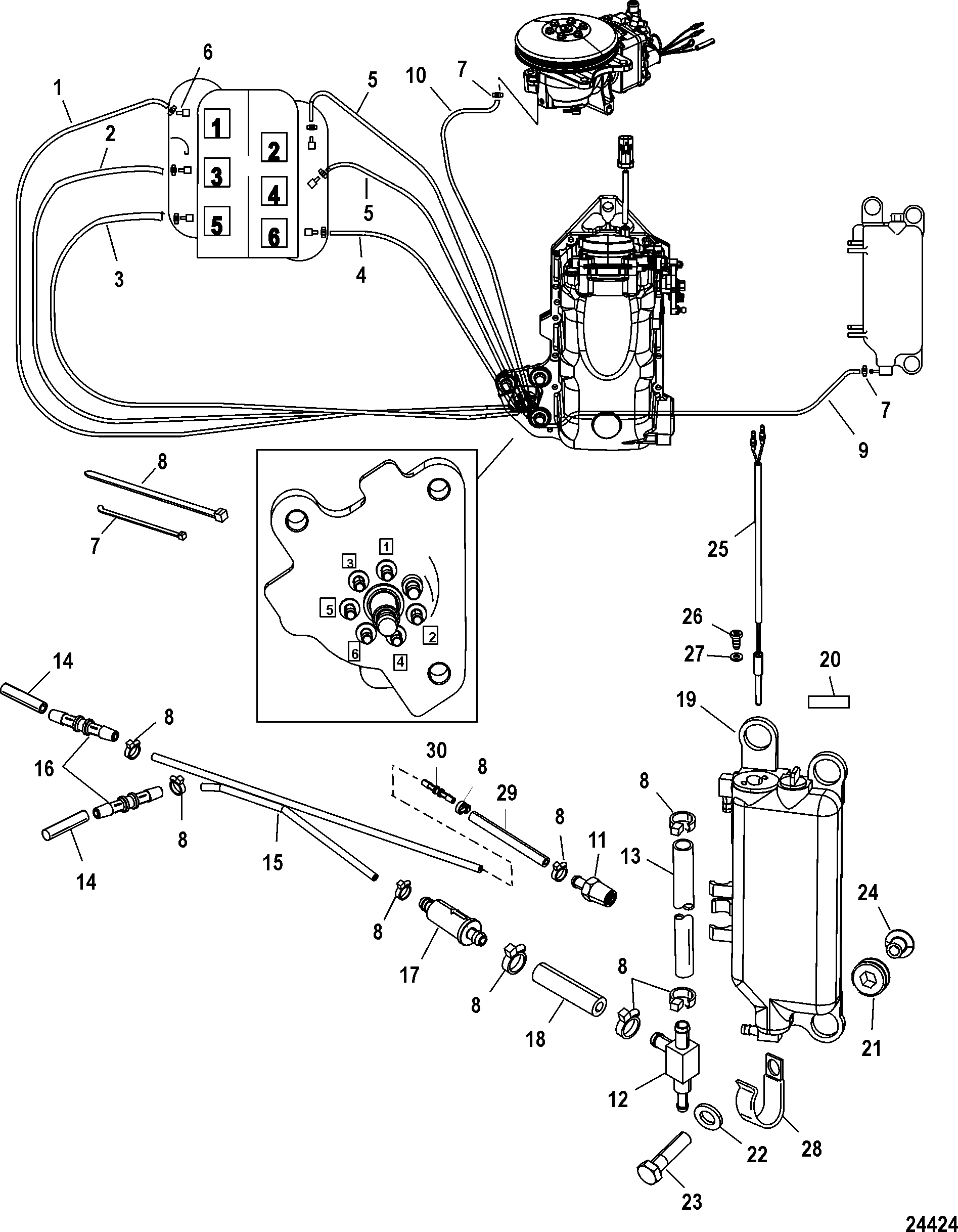 Oil Injection Components For Mariner Mercury 135 150 175
