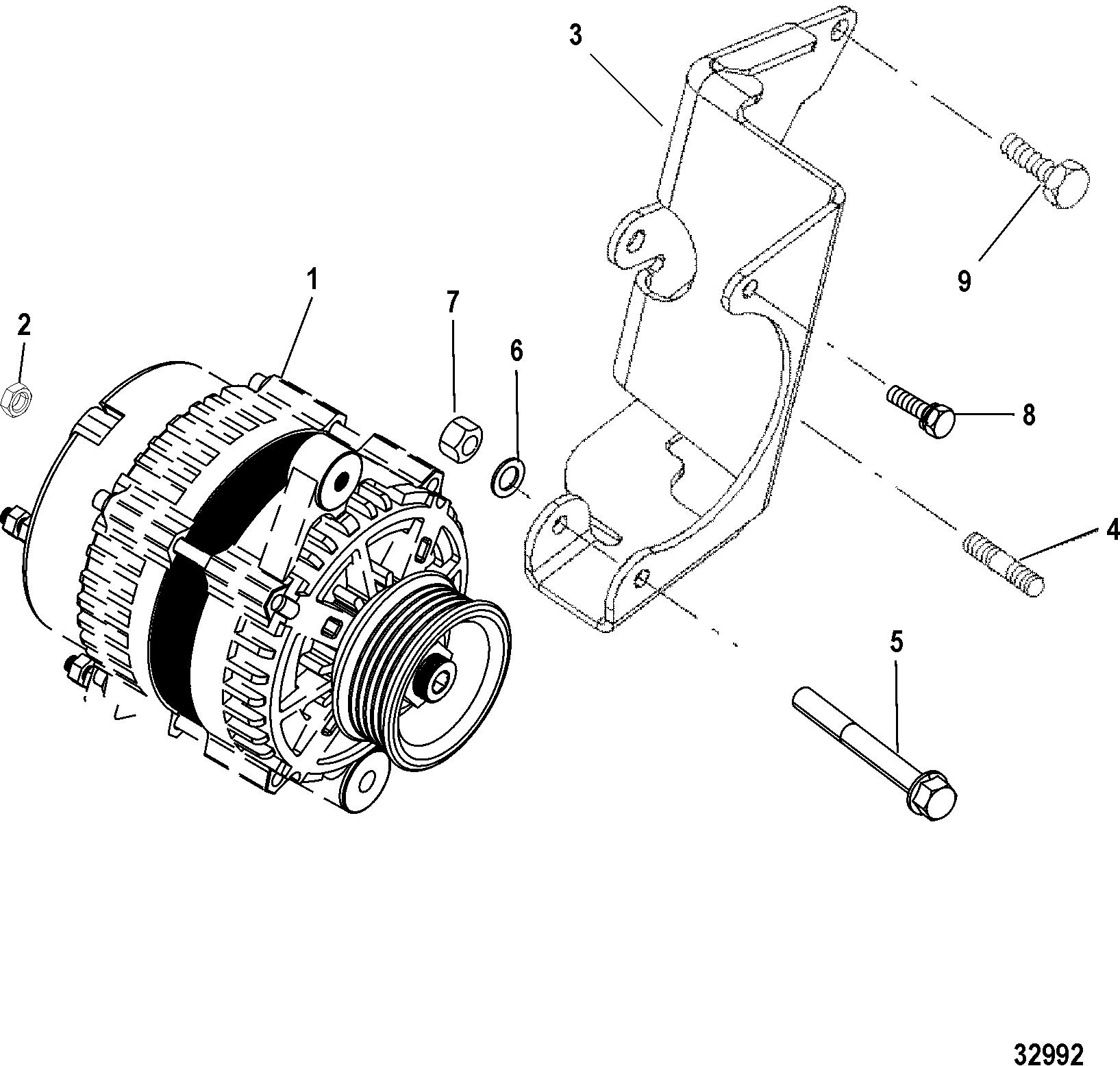 Alternator And Bracket Delco For Mie 7 4l Mpi Mie Gen Vi L29