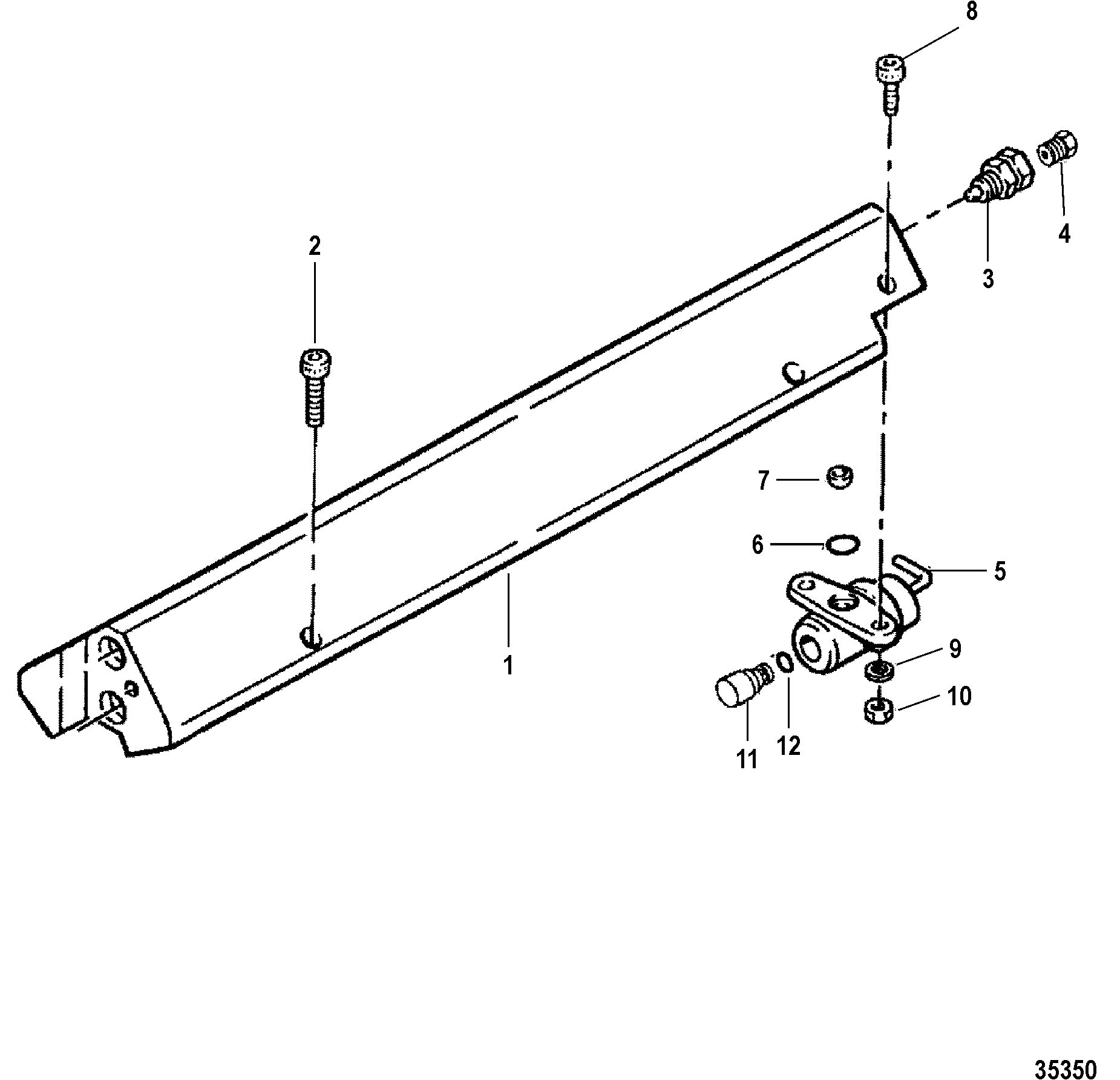 Fuel Rail Assembly For Mercruiser 454 502 Mpi Mag Bravo Gen Vi