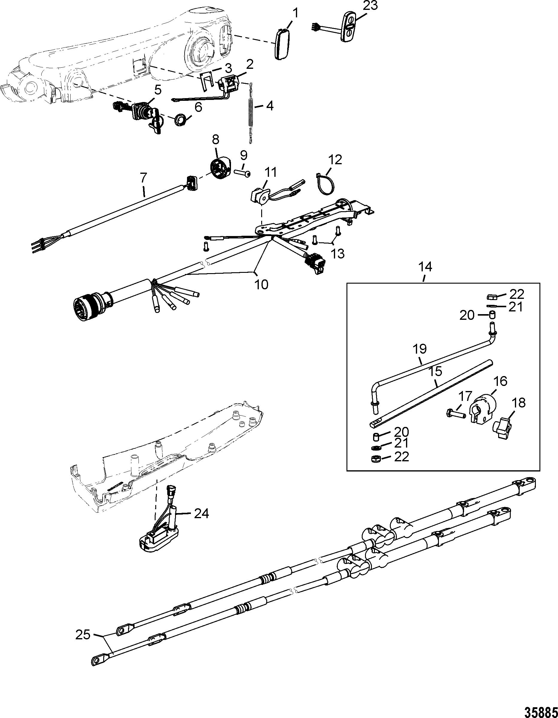 Tiller Handle Kit Components Big Tiller Manual Mechanical
